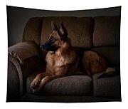 Looking Out The Window - German Shepherd Dog Tapestry
