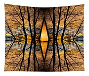 Looking Through The Trees Abstract Fine Art Tapestry