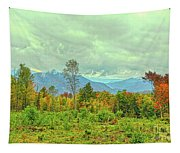 Looking To The Mountains Tapestry