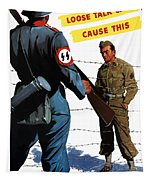 Loose Talk Can Cause -- Ww2 Propaganda Tapestry