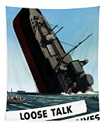 Loose Talk Can Cost Lives Tapestry by War Is Hell Store