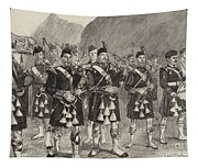 Lord Archibald Campbell And His Pipers Marching Through The Pass Of Glencoe Tapestry
