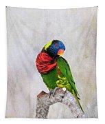Lorikeet Greeting Tapestry