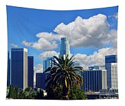 Los Angeles And Palm Trees Tapestry
