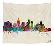 Los Angeles California Skyline Signed Tapestry