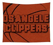 Los Angeles Clippers Leather Art Tapestry