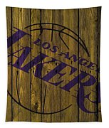 Los Angeles Lakers Wood Fence Tapestry