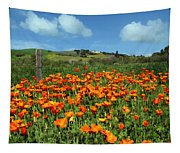 Los Olivos Poppies Tapestry