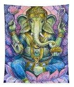 Lotus Ganesha Tapestry