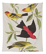 Louisiana Tanager Or Scarlet Tanager  Tapestry