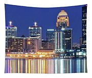 Louisville Kentucky Lights Tapestry