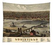 Louisville Vintage Map Tapestry