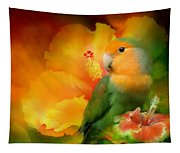 Love Among The Hibiscus Tapestry