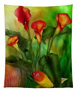 Love Among The Lilies  Tapestry
