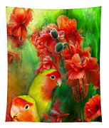 Love Among The Poppies Tapestry