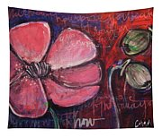 Love And Live With Purpose Poppies Tapestry