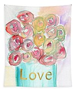 Love And Roses- Art By Linda Woods Tapestry