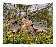 Love Birds - Great Blue Heron Tapestry