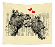 Love Camels Tapestry