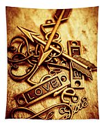 Love Charms In Romantic Signs And Symbols Tapestry