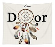Love Dior Watercolour Dreamcatcher Tapestry