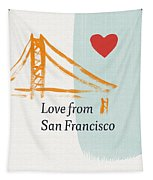 Love From San Francisco- Art By Linda Woods Tapestry