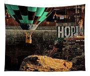 Love Hope And A Hot Air Balloon Tapestry