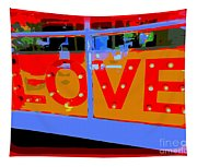 Love  In Lights Tapestry