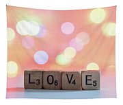 Love Lights Square Tapestry