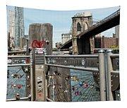 Love Locks In Brooklyn New York Tapestry