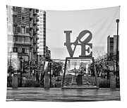 Love On The Parkway In Black And White Tapestry