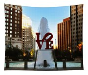 Love Park - Love Conquers All Tapestry