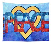 Love Peace Tapestry