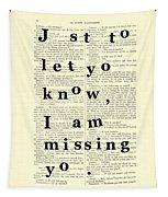Love Poem, Valentine Gift  Tapestry