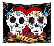 Love Skulls II Tapestry