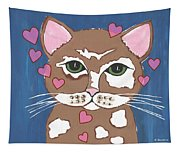 Loveable Cat - Cute Animals Tapestry