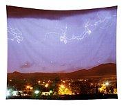 Loveland Colorado Front Range Foothills  Lightning Thunderstorm Tapestry