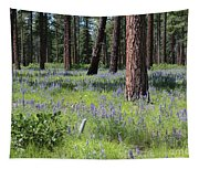 Lovely Lupine In The Mountains Tapestry