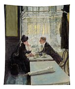 Lovers In A Cafe Tapestry