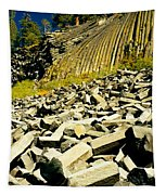 Low Angle View Of Devils Post Pile Tapestry