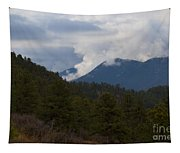 Low Clouds In Ute Pass Colorado Tapestry