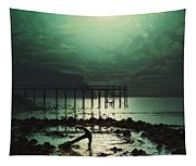 Low Tide By Moonlight Tapestry
