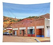 Lowell Arizona Pottery Building Old Police Car Tapestry