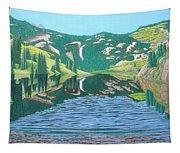 Lower Cataract Lake And Cataract Creek Falls Tapestry
