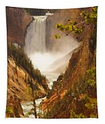 Lower Falls From Artists Viewpoint Tapestry