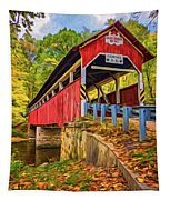 Lower Humbert Covered Bridge 2 - Paint Tapestry