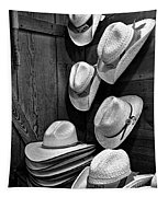 Luckenbach Hats Black And White Tapestry