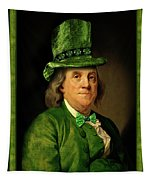 Lucky Ben Franklin In Green Tapestry