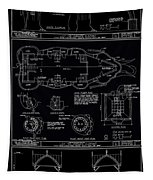 Lucy The Elephant Building Patent Blueprint 3 Tapestry