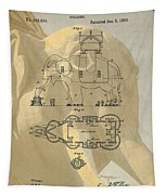 Lucy The Elephant Building Patent Tapestry